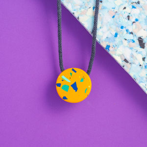 Handpoured Terrazzo Two Tone Necklace
