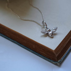 Bee Necklace In Silver Or Gold Vermeil - children's jewellery