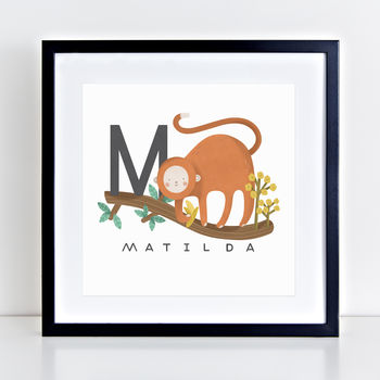 Personalised Baby Name Animal Print M