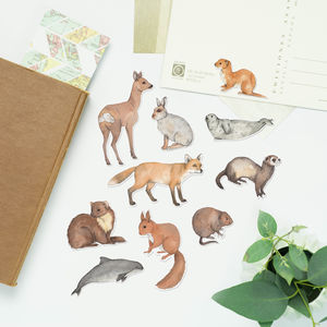 British Mammal Stickers - stickers