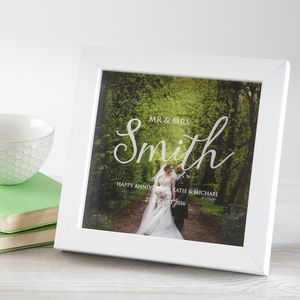 Personalised Wedding Anniversary Photo Box Frame - picture frames