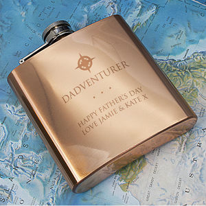 Dadventurer Copper Hip Flask - 50th birthday gifts