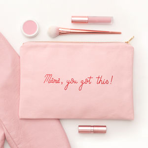 'Mama You Got This' Blush Pink Pouch - clutch bags