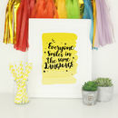 Typography Art Print Inspirational Quote Smile Language