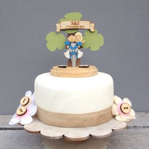 Personalised Motorbike Wedding Cake Topper - table decorations