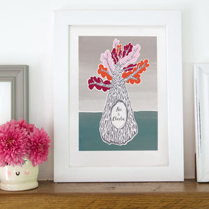 Personalised Tree Trunk Print - valentine's gifts for him