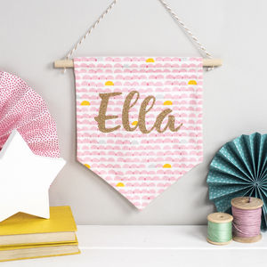 New Baby Personalised Banner