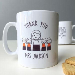Personalised Lady Teacher Mug - mugs