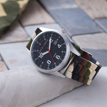 Customised And Personalised Outdoors Camouflage Watch