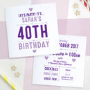 Personalised Party Invitations Double Sided
