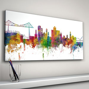 Middlesbrough City Skyline - paintings & canvases