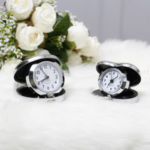 His And Hers Personalised Travel Alarm Clocks - clocks