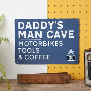 Personalised Daddy's Man Cave Road Sign - decorative accessories
