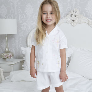 Girl's Personalised Ballerina Cotton Pyjamas