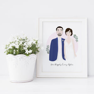 Custom Wedding Portrait Illustration - paintings