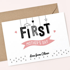 Personalised First Mother's Day Card