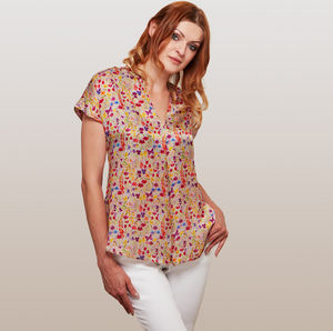 Botanical Silk Top - women's fashion