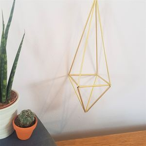 Brass Himmeli 'Quad' Geometric Plant Holder