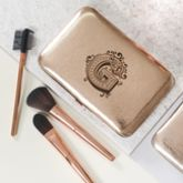 Personalised Make Up Brush Set With Decorative Initial - what's new