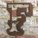 Rusted Fairground Font Letters A To Z