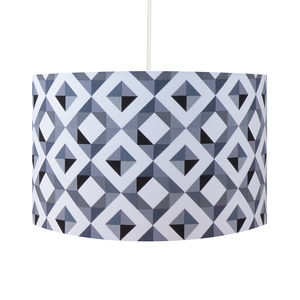Grey Geometric Lampshade - table lamps