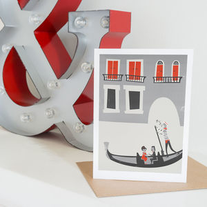 Romantic Venice Greetings Card - blank cards