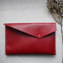 Asymmetric Leather Clutch