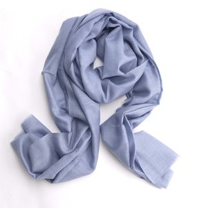 Oversized Cashmere Scarf Blue - scarves