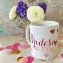 Personalised Calligraphy Wedding Party 'Thank You' Mug