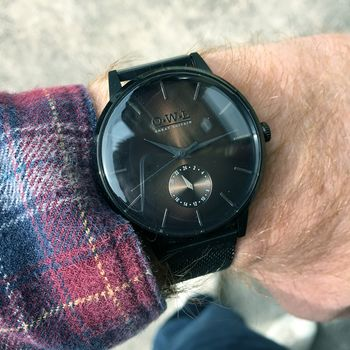 Gents Black Mesh Strap Filton Watch