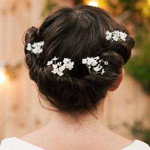 Hettie Gypsophila Hair Pin - wedding fashion