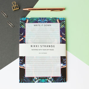 A5 Nocturnal Jungle Notepad