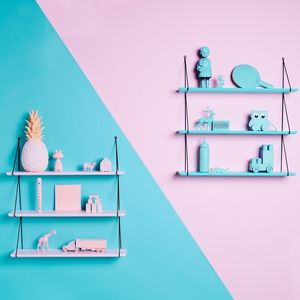 Pale Pink Triple Layer Shelf Unit - shelves