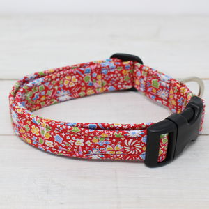 Clementine Liberty Fabric Dog Collar