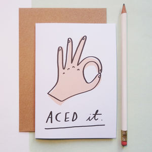 Aced It! Congratulations Card