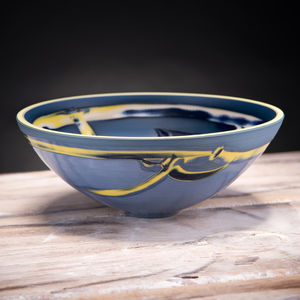 Handmade Low Ceramic Centre Bowl Coast Series - kitchen