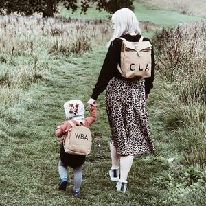 Mini Me Sustainable Brown Paper Style Rucksacks - backpacks