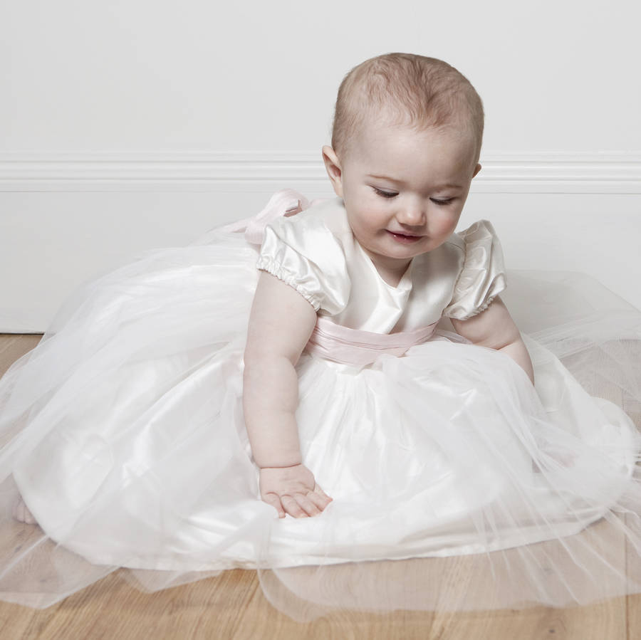 Silk And Tulle Christening Dress 'Princess'