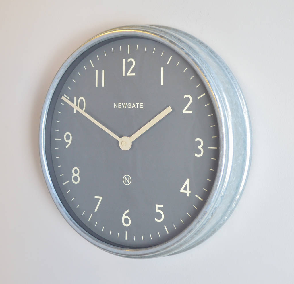Newgate the spy metal wall clock by the orchard newgate the spy metal wall clock galvanised finish amipublicfo Images