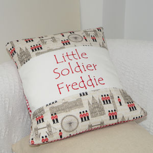 Little Soldier Cushion - soft toys & dolls