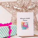 'Colourful Christmas' Confetti Card