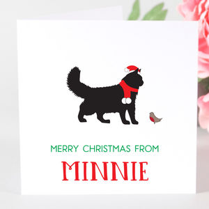 Personalised Cat Christmas Card