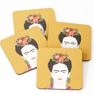 Yellow Frida Coasters