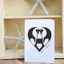 Personalised Penguin Love Card
