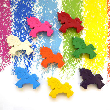 Set Of Eight Unicorn Crayons