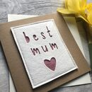 ' Best Mum/Mummy' Birthday Card
