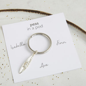 Personalised Peas In Pod Keyring - accessories gifts for mothers