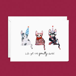 Cute Cats Pun Greetings Card