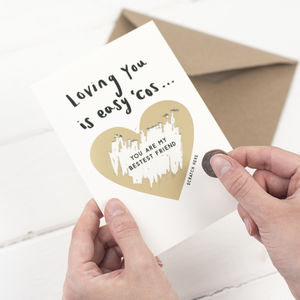 Loving You Is Easy Valentine Scratch Card