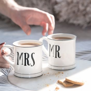 A Set Of Mr And Mrs Mugs